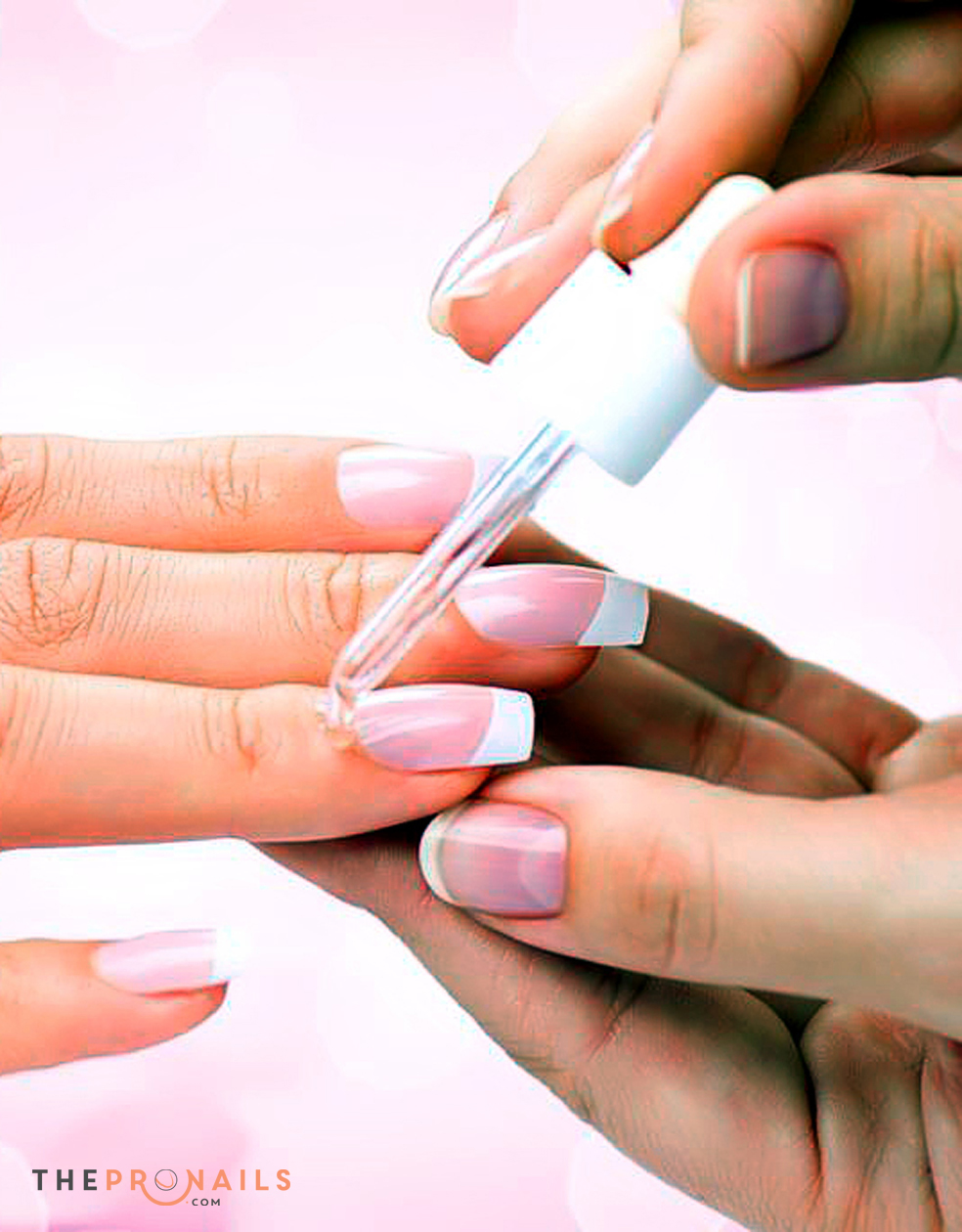 Netian Nails & Lashes | Acrylic Pink and White Back Fill